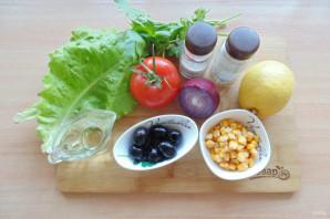 Критский салат - фото шаг 1