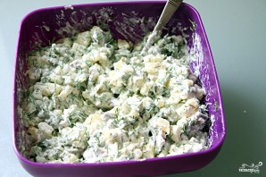 Салат в буханке хлеба - фото шаг 5
