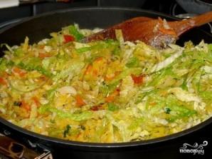 Тушеная капуста с рисом - фото шаг 7