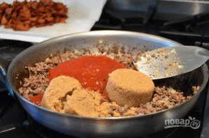 Говядина с фасолью в духовке - фото шаг 4