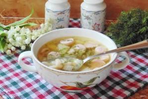 Суп с фасолью и сосисками - фото шаг 8