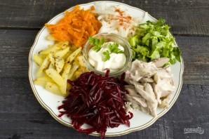 """Вкусный салат """"Сделай сам"""" - фото шаг 8"""