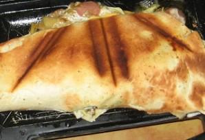 Шаурма с колбасой и сыром - фото шаг 6