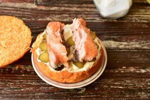 Рыбный бургер - фото шаг 5