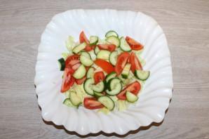 Крабовый салат с салатом айсберг - фото шаг 6