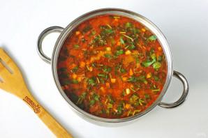 Суп харчо с тушенкой - фото шаг 10