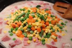 Итальянский пирог с ветчиной и овощами - фото шаг 6