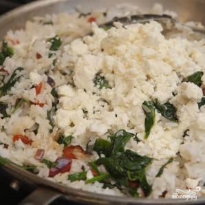 Рис со шпинатом и сыром - фото шаг 6