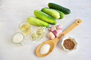 Салат зимний из огурцов - фото шаг 1