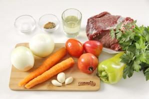 Говядина с овощами в мультиварке - фото шаг 1