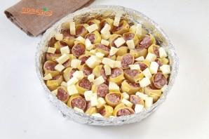 Макароны с мясом под соусом - фото шаг 5