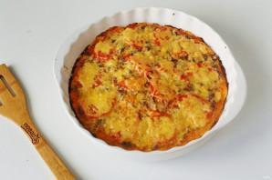 Пицца с тушенкой - фото шаг 9