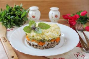 Салат с куриной печенью и маринованными огурцами - фото шаг 10