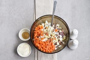Салат из сайры консервированной - фото шаг 3