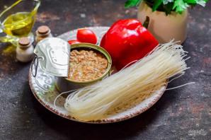Салат с тунцом и фунчозой - фото шаг 1