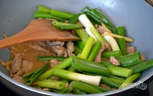 Мясо с имбирем и зеленым луком - фото шаг 4