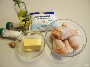 Куриная голень под соусом - фото шаг 1