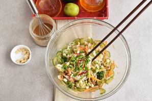 Салат с рисовой лапшой и овощами - фото шаг 5