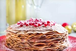Торт из блинов с шоколадным муссом - фото шаг 4