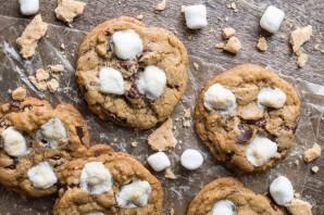 Песочное печенье с шоколадом и маршмеллоу - фото шаг 14