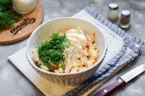 Куриный салат с морковью - фото шаг 5