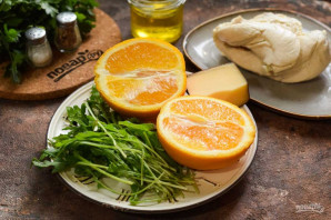 Салат из курицы с рукколой и апельсинами - фото шаг 1
