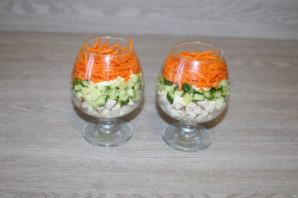 Салат с корейской морковкой, курицей и яйцом - фото шаг 6