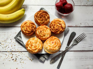 Творожные кексы с клубникой - фото шаг 7