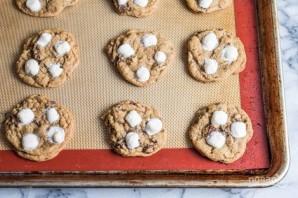 Песочное печенье с шоколадом и маршмеллоу - фото шаг 13