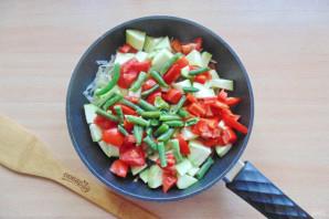 Овощное рагу со стручковой фасолью и кабачками - фото шаг 7