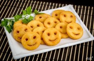 Картофельные смайлики - фото шаг 8