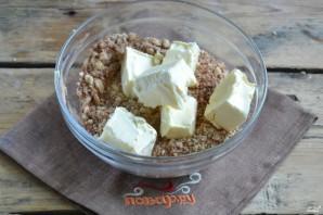 Шоколадная колбаска из печенья - фото шаг 3