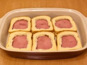 Горячие бутерброды с окороком, помидорами и яйцами - фото шаг 5