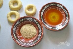 Турецкие бублики с кунжутом - фото шаг 7