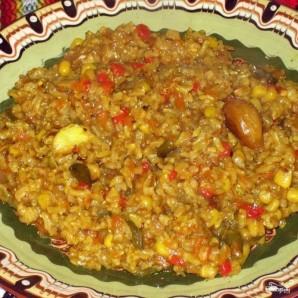Коричневый рис с овощами - фото шаг 9