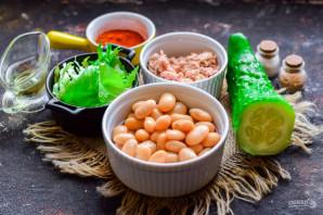 Салат с тунцом и белой фасолью - фото шаг 1