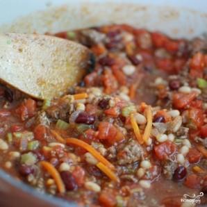 Густой итальянский томатный суп с макаронами и фаршем - фото шаг 9
