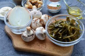 Салат с морской капустой и грибами - фото шаг 1