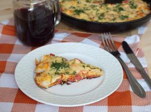 Пицца из хлеба на сковороде - фото шаг 10