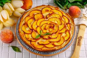 Пирог с персиками и рикоттой - фото шаг 8