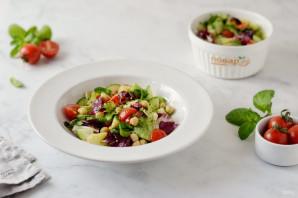Салат с нутом - фото шаг 7
