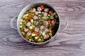 Суп с фрикадельками и кабачком - фото шаг 6