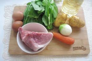 Щавелевый суп с мясом и яйцом - фото шаг 1