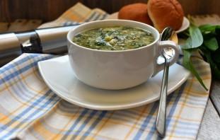 Суп с черемшой  и зеленым горошком. - фото шаг 6