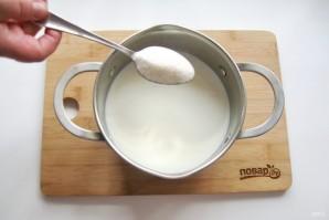 Шоколадный пудинг из манки - фото шаг 4