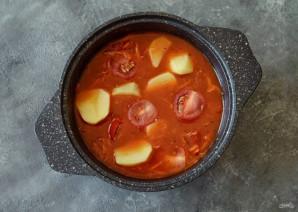Томатный вегетарианский суп - фото шаг 5