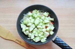 Овощное рагу со стручковой фасолью и кабачками - фото шаг 5