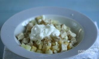 Салат: курица с ананасами и сыром - фото шаг 5