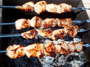 Шашлык из курицы с луком - фото шаг 9