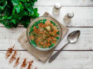 Диетический суп с перловкой